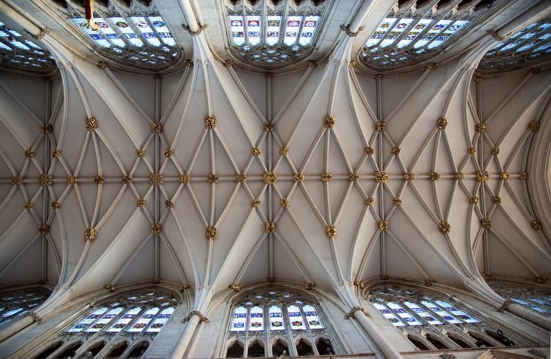 York Minster ceiling