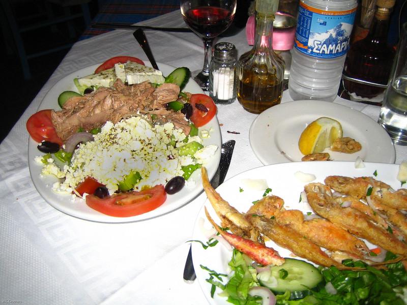 dinner in Crete