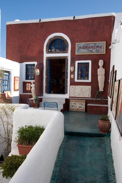 tourist shop in Oia
