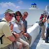 rest stop on Santorini