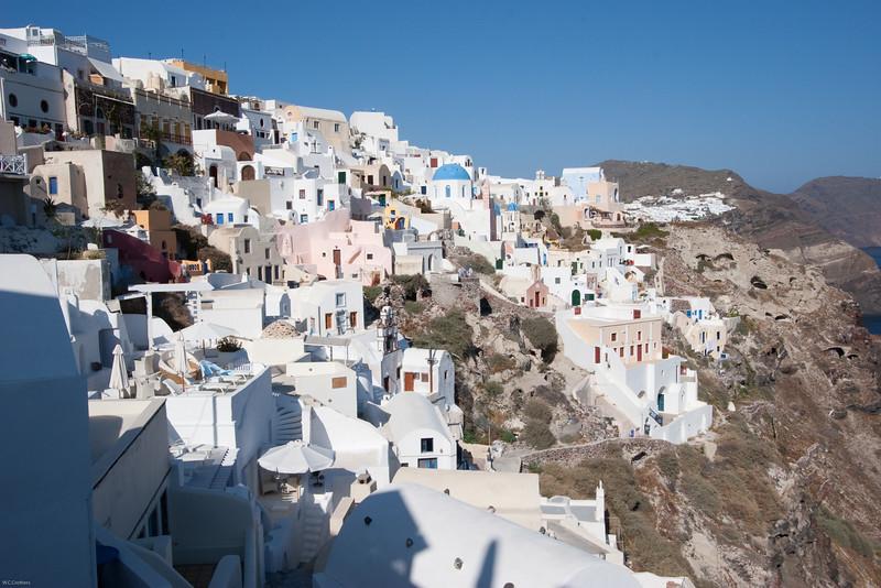 Oia cliffside houses