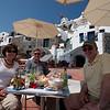 Kathi, Richard, Bill at Esperas in Oia