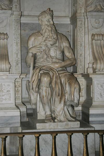 Michangelo sculpture of Moses (Rome)