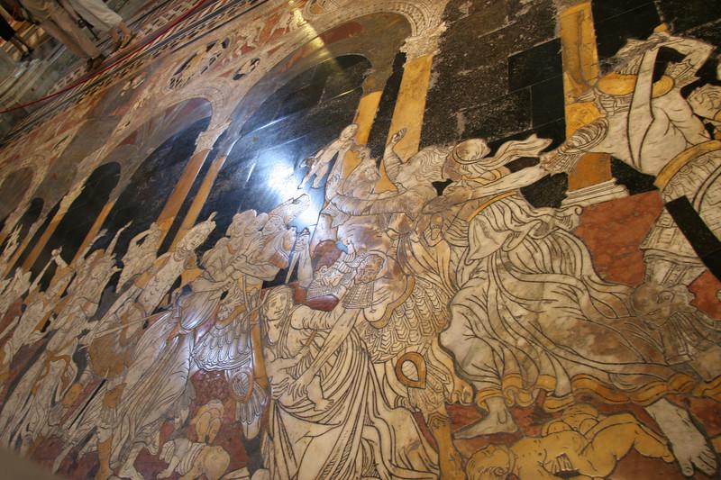marble floor in Duomo in Sienna