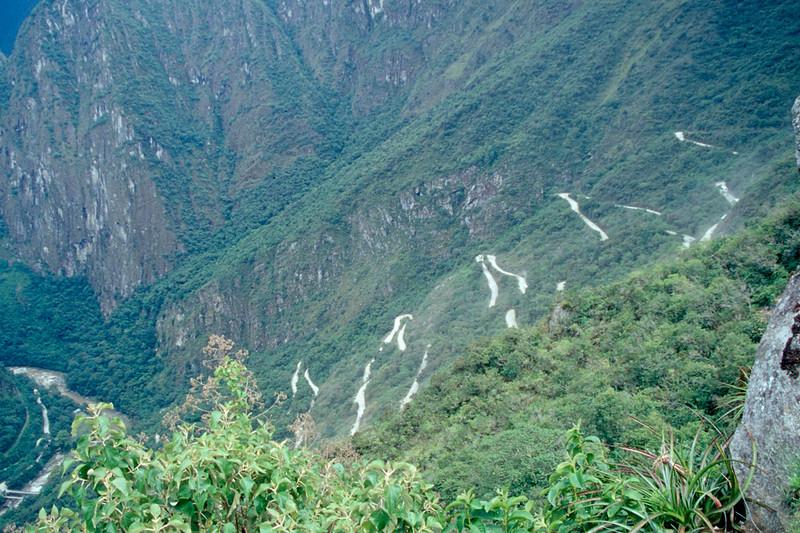 the freeway to Machu Picchu