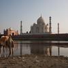 Agra, Taj Mahal from across the river