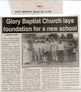 Local Newspaper Story on School Construction