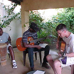 Practicing Church Music in Guest House Carport