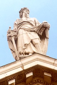 Statue of Paul at St. Paul Cathedral