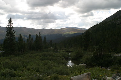 Hike at Blue Lakes, Summit County, CO, south of Breckenridge, August 26, 2005
