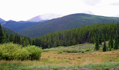 Argentine Meadow, site of 1879 silver mine and RR stop, on my drive up Boreas Pass Road south of Breckenridge, CO, August 27, 2005