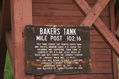 Bakers Tank, an 1800s RR water tank on my drive up Boreas Pass Road south of Breckenridge, CO, August 27, 2005