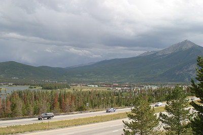 I-70 Overlook of Dillon Lake and Frisco, CO, August 25, 2005