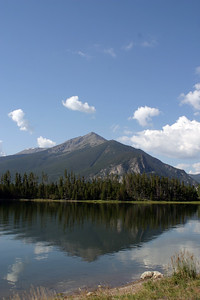 Ophir Mountain reflected in Dillon Lake, Frisco, CO, August 28, 2005