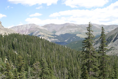 Hike on McCullough Gulch Trail, Summit County, CO, south of Breckenridge, August 26, 2005.