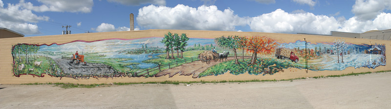 Mural on building in Bagley, MN, on my May-June 2005 trip to Minnesota to visit Jerry