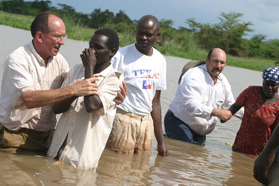 Bisarye, Tanzania on Monday, November 14, 2005 for witness, service and baptism in a nearby pond.