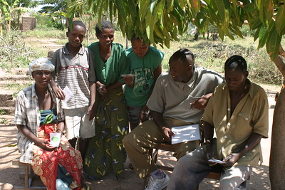 Second day at Kwangwa, Tanzania; starting the church of the Mango Tree! Nov. 9, 2005