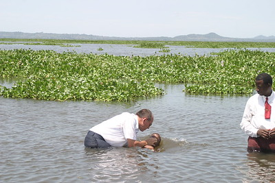 Baptism in Lake Victoria