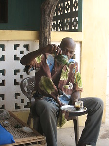 Attaya  --  A special, strong green tea Gambians love