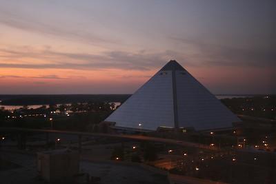 Sunset on the Pyramid