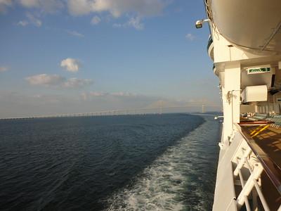 Panama Canal Cruise Departing