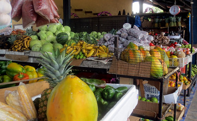 Vegetable Market Stop on road to