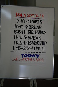 Daily Schedule for Senior Adults