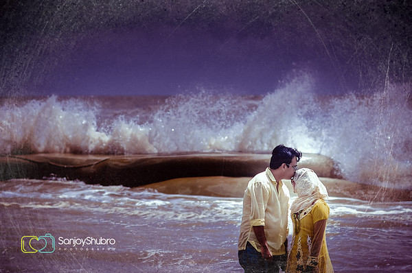 Seaside Pre Wedding Shoot By Sanjoy Shubro