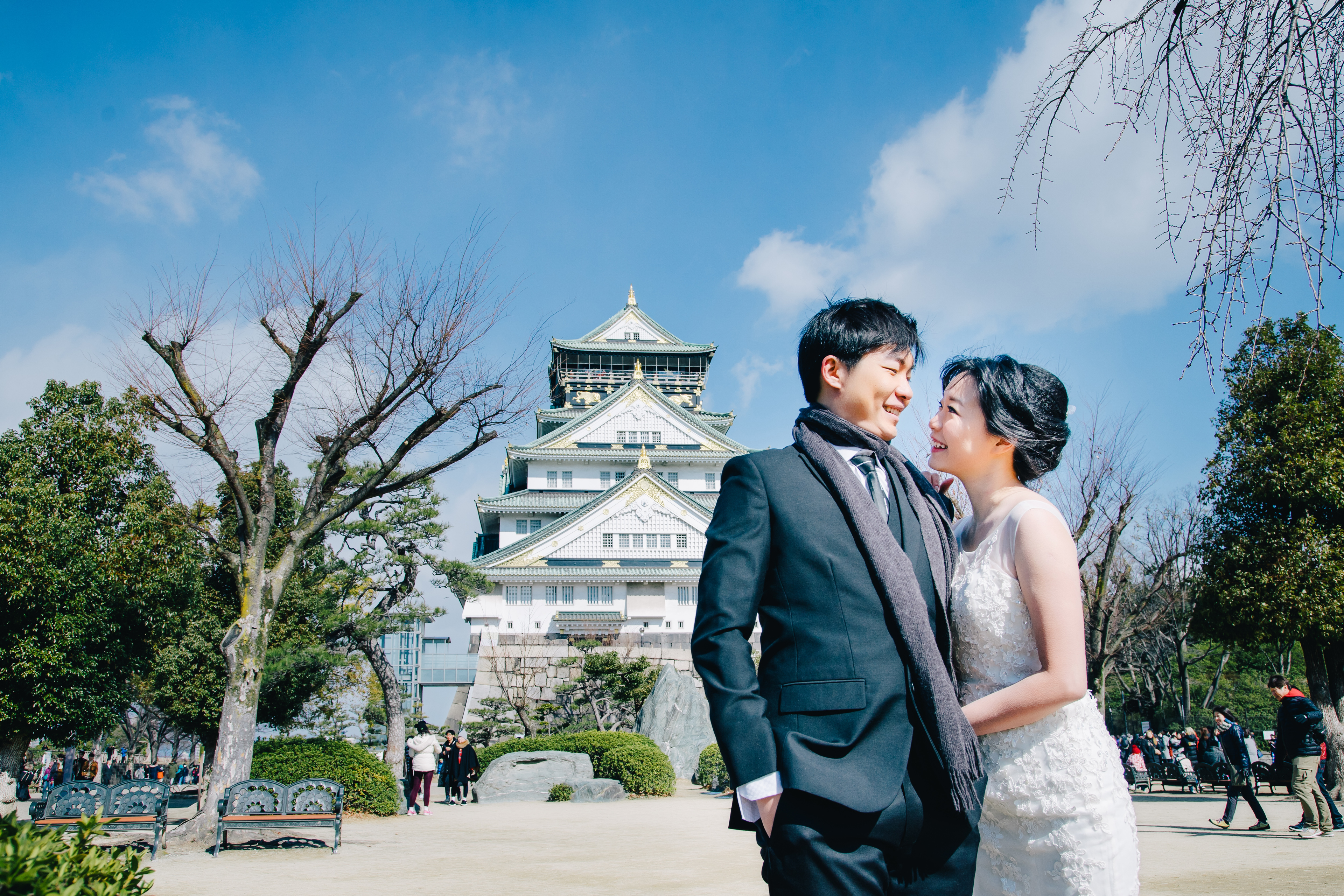 Japan Pre Wedding in Osaka, Osaka Castle, Universal Studio, Japan