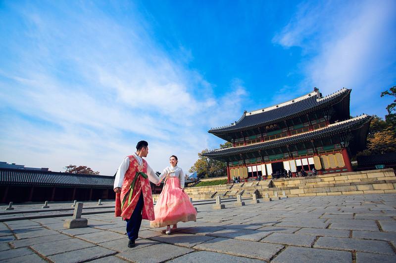 seoul hanbok pre wedding