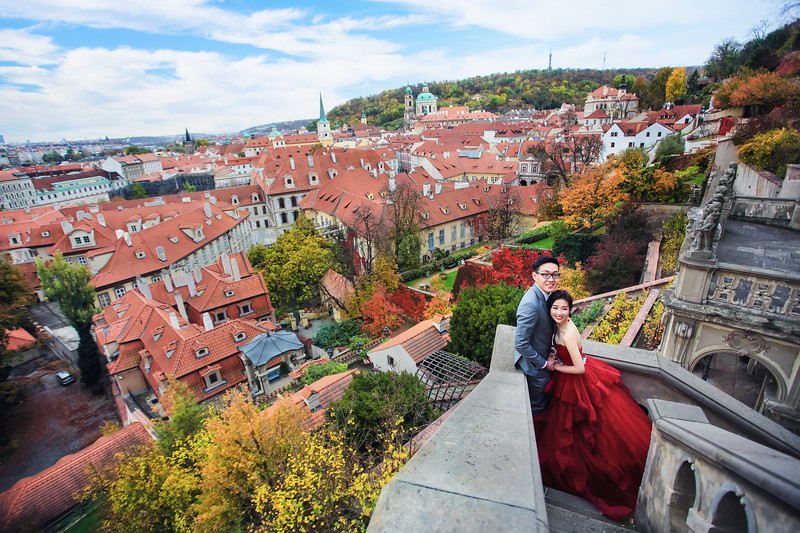 prague autumn pre wedding