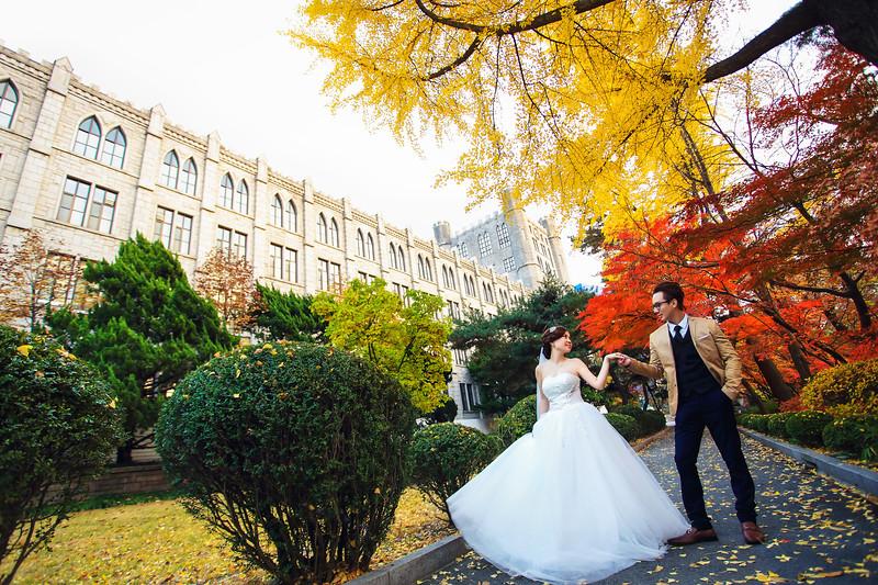 seoul autumn pre wedding