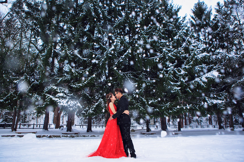 japan winter pre wedding