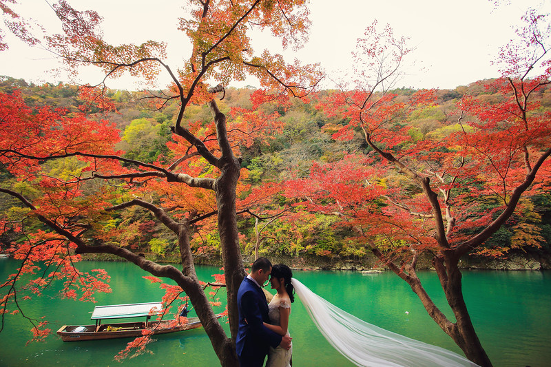 japan autumn pre wedding