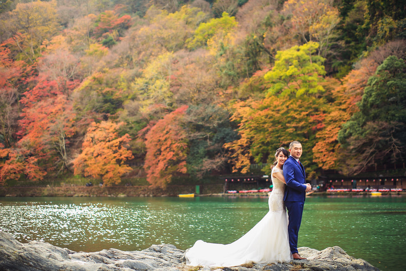 japan pre wedding in autumn