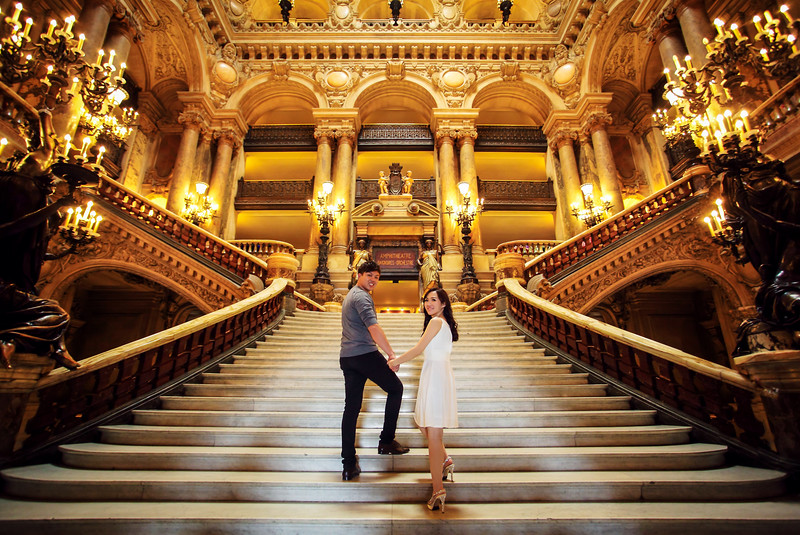 paris opera house pre wedding