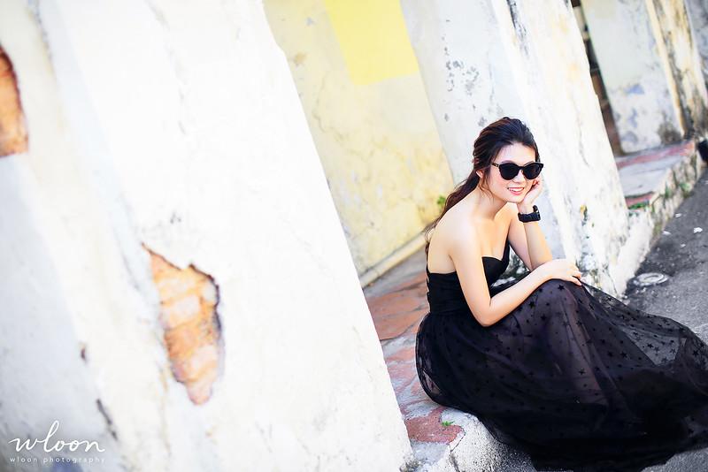 bride with black dress