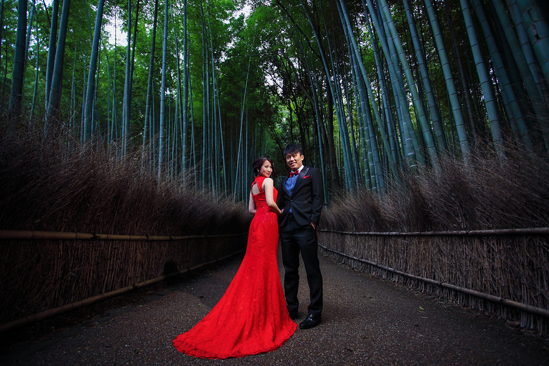 kyoto bamboo forest pre wedding