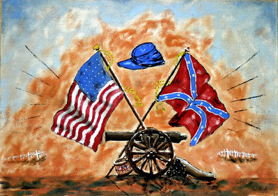 Acrylic painting by Wayne Johnston in appreciation of taking him and others on the Shiloh Military Trail at the end of the summer in 1962. He sent me this painting for Christmas that year.