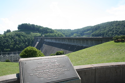 Norris Dam State Park, Anderson County and Campbell County, Tennessee near Rocky Top