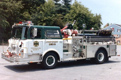 Engine 11 was a 1972 Mack CF/1981 4-Guys, 1000/500.  Rehab following crash with police car.  Transferred to FD training academy in 1992.  Bought by a collector in Maryland in 1997 (who also owns 1952 Mack L).