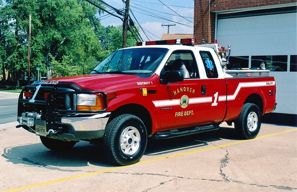 District 1 is a 2000 Ford F-350/Fire X, 200/125.  Serves as a brush truck and first responder vehicle.