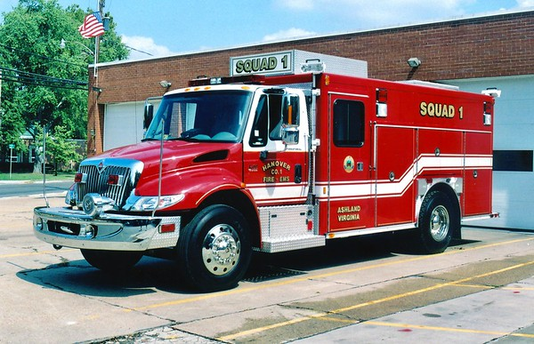 Squad 1 is a nice 2003 International 4400/E-One, sn- 126578.  Replaced a 1996 International/E-One that was wrecked in 2002.