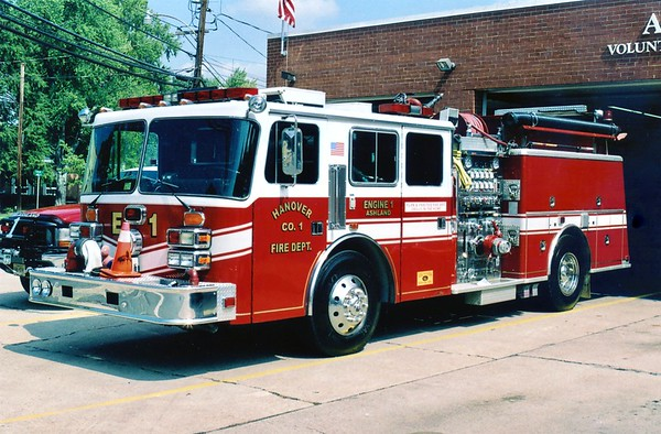 Engine 1 from the Ashland station was a 1990 KME, 1250/750.