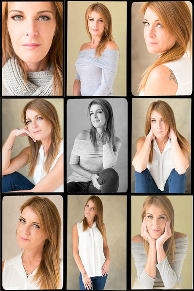 Portrait collage of a woman