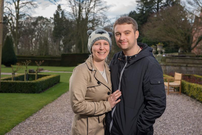 Claudia and Sam's Pre-wedding Photography - Hoar Cross Hall, Staffordshire