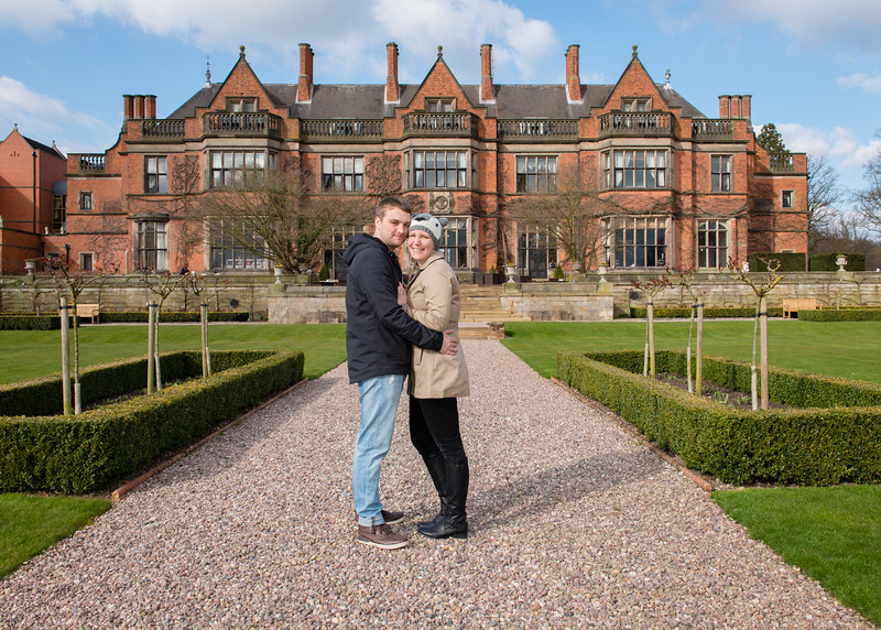 Claudia and Sam's Pre-wedding Photography - Hoar Cross Hall, Staffordshire