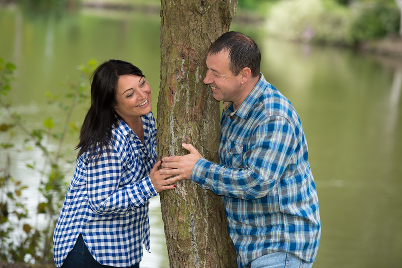 Linda and Dave - Pre-wedding photography, Longton Park, Stoke on Trent, Staffordshire