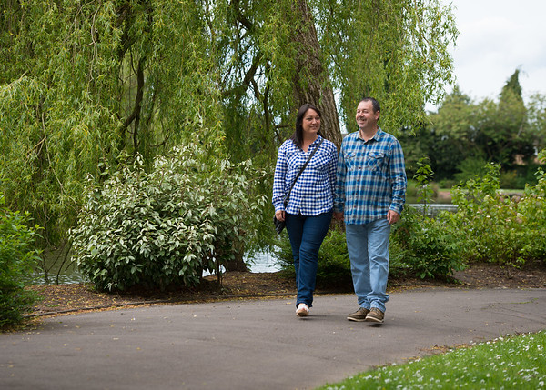 Linda and Dave - Pre-wedding photography, Longton Park, Stoke on Trent, Staffordshire